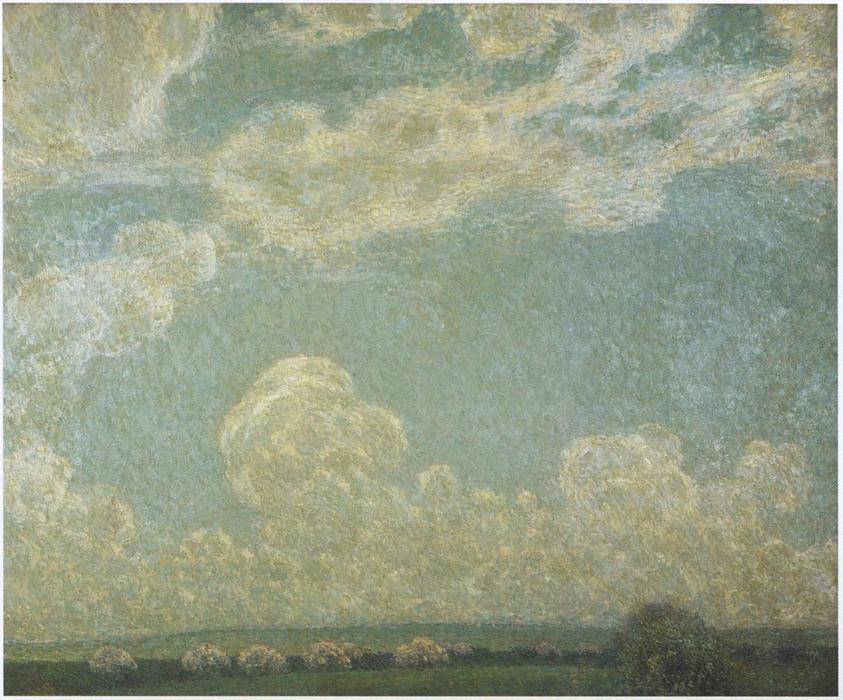 Spring Sky, Oil On Canvas by Henri Eugène Augustin Le Sidaner (1862-1939, Mauritius)