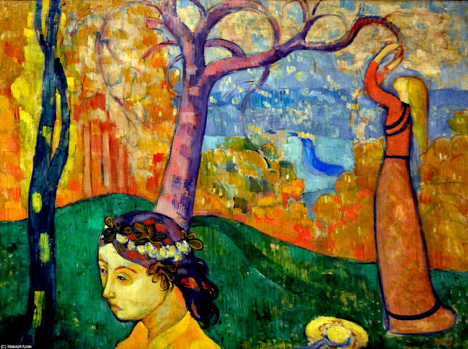Springtime, Oil On Canvas by Emile Bernard (1868-1941, France)