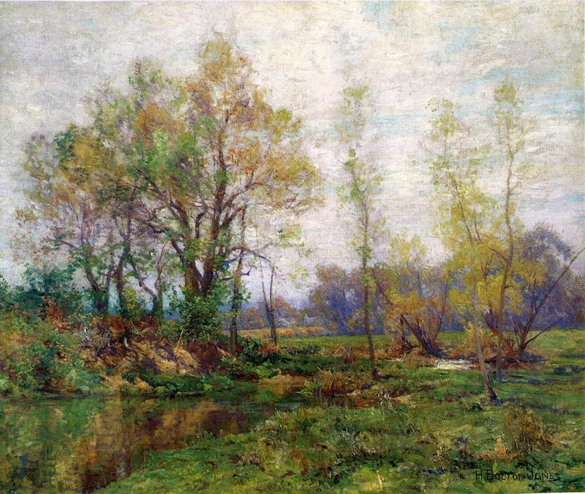 Springtime, Oil On Canvas by Hugh Bolton Jones (1848-1927)