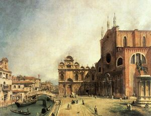 Giovanni Antonio Canal (Canaletto) - SS. Giovanni e Paulo and the Scuola de San Marco