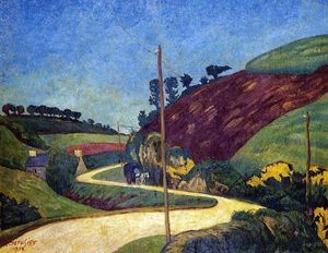 Paul Serusier - The Stagecoach Road in the Country with a Cart
