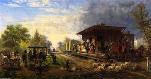 Edward Lamson Henry - Station on the Morris and Essex Railroad