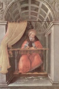 Sandro Botticelli - St. Augustine in his cell