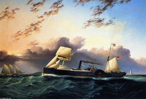 James Edward Buttersworth - The Steam and Sail Ship Western Metropolis''''