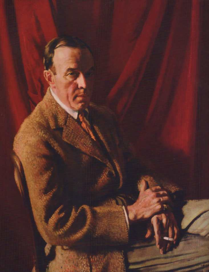 Stephen Carlton Clark, Oil On Canvas by William Newenham Montague Orpen (1878-1931, Ireland)