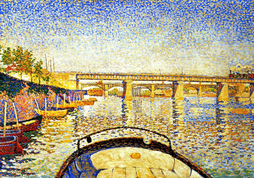 Order Reproductions | Stern of the Boat, Opus 175, 1888 by Paul Signac (1863-1935, France) | WahooArt.com