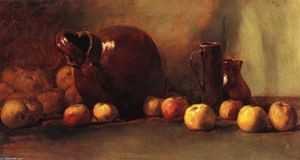Order Museum Quality Reproductions : Still LIfe: Jug with Fruit, 1888 by Guy Orlando Rose (1867-1925, United States) | WahooArt.com