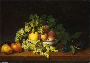 James Peale - Still LIfe of Fruit with a Porcelain Bowl