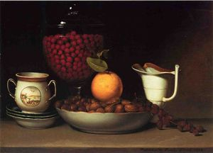 Raphaelle Peale - Still Life, Strawberries and Nuts