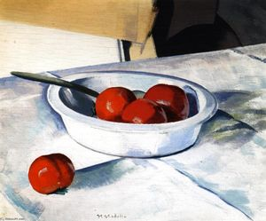 Order Art Reproduction : Still LIfe (Tomatoes), 1920 by Francis Campbell Boileau Cadell (1883-1937) | WahooArt.com