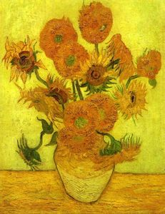 Vincent Van Gogh - Still Life: Vase with Fourteen Sunflowers - (Famous paintings reproduction)