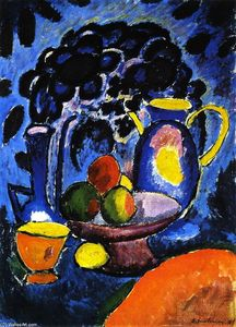 Alexej Georgewitsch Von Jawlensky - Still LIfe with Blue Jug