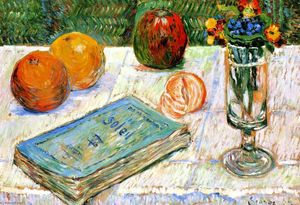 Paul Signac - Still LIfe with a Book and Oranges