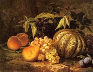 William Mason Brown - Still Life with Cantaloupe