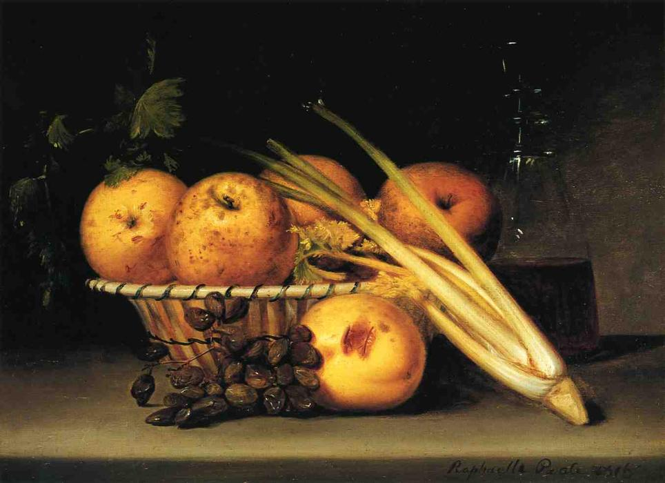 Still Life with Celery and Wind, 1816 by Raphaelle Peale (1774-1825, United States) | Art Reproductions Raphaelle Peale | WahooArt.com