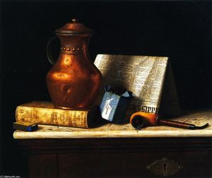 William Michael Harnett - Still LIfe with Copper Jug