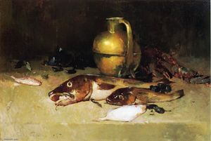 Soren Emil Carlsen - Still Life with Fish