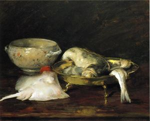 William Merritt Chase - Still Life with Fish