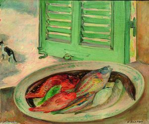 Henri Lebasque - Still Life with Fish (also known as Nature morte aux poissons)