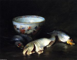 William Merritt Chase - Still LIfe with Fish (8)