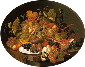 Severin Roesen - Still Life with Fruit