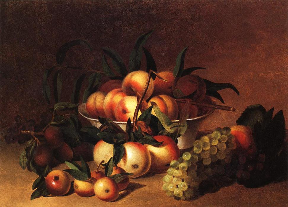 Still Life with Fruit, 1828 by James Peale (1749-1831, United States) | Art Reproductions James Peale | WahooArt.com