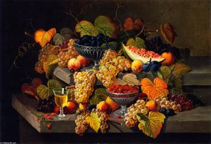 Severin Roesen - Still LIfe with Fruit (8)