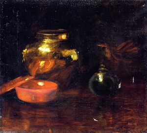 William Merritt Chase - Still Life with Fruit and Pottery