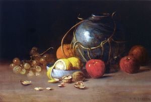 Charles Ethan Porter - Still Life with Ginger Jar, Fruit and Nuts