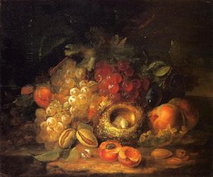 George Forster - Still Life with Grapes and Peaches