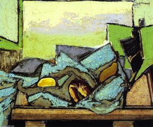 Alfred Henry Maurer - Still LIfe with Green Cloth