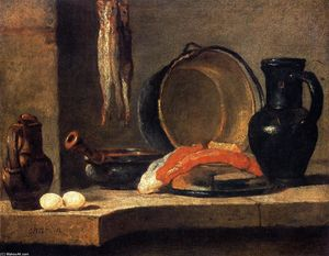 Jean-Baptiste Simeon Chardin - Still Life with Herrings