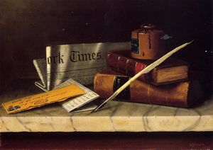 William Michael Harnett - Still Life with Letter to Thomas B. Clarke