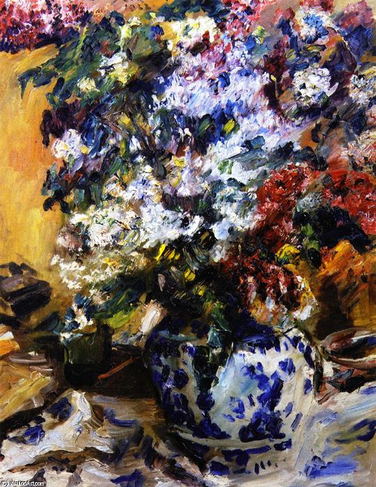 Still LIfe with Lilacs, Oil On Canvas by Lovis Corinth (Franz Heinrich Louis) (1858-1925, Netherlands)