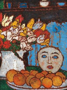 Jozsef Rippl Ronai - Still-life with Mask