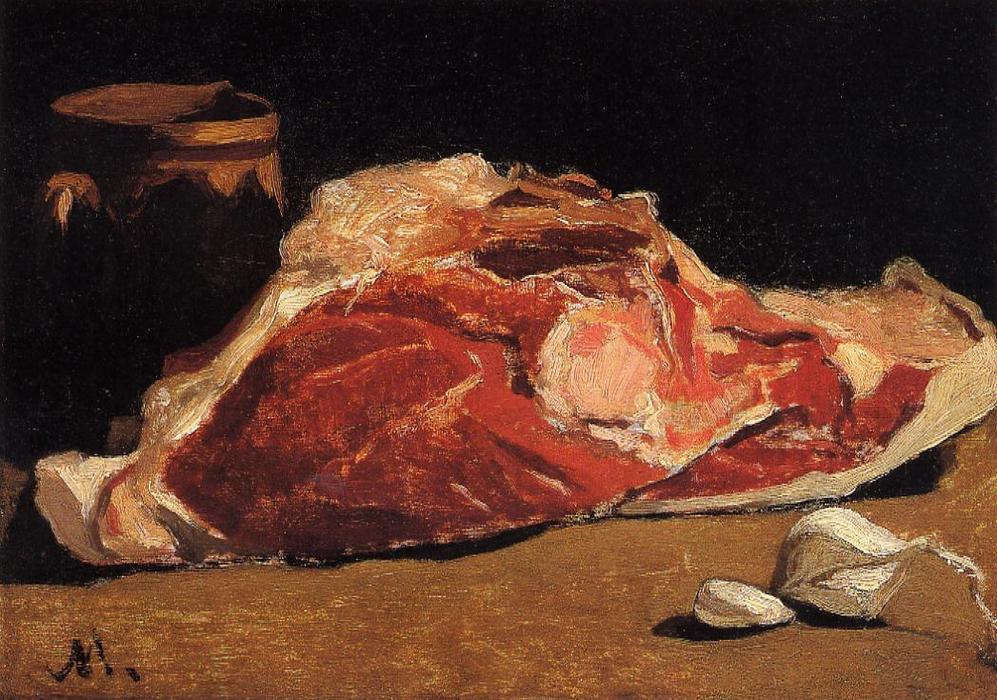 Still Life with Meat, 1862 by Claude Monet (1840-1926, France) | Paintings Reproductions Claude Monet | WahooArt.com