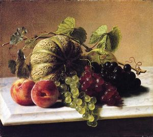George Hetzel - Still Life with Melons, Grapes