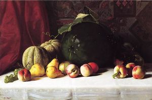 George Hetzel - Still Life with Melons, Pears and Apples