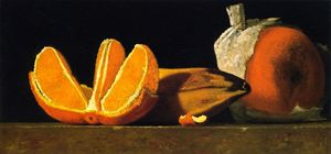 John Frederick Peto - Still Life with Oranges and Banana