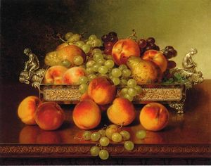 Robert Spear Dunning - Still Life with Peaches and a Silver Dish