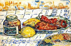 Paul Signac - Still LIfe with Peppers