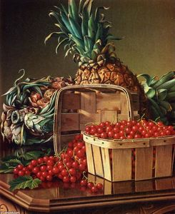 Levi Wells Prentice - Still Life with Pineapple and Basket of Currants