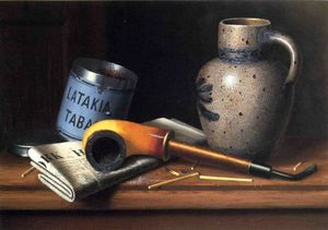 William Michael Harnett - Still Life with Pipe and Tobacco