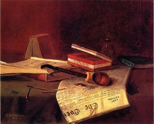 Nicholas Alden Brooks - Still Life with Pipe, Tobacco and Matches