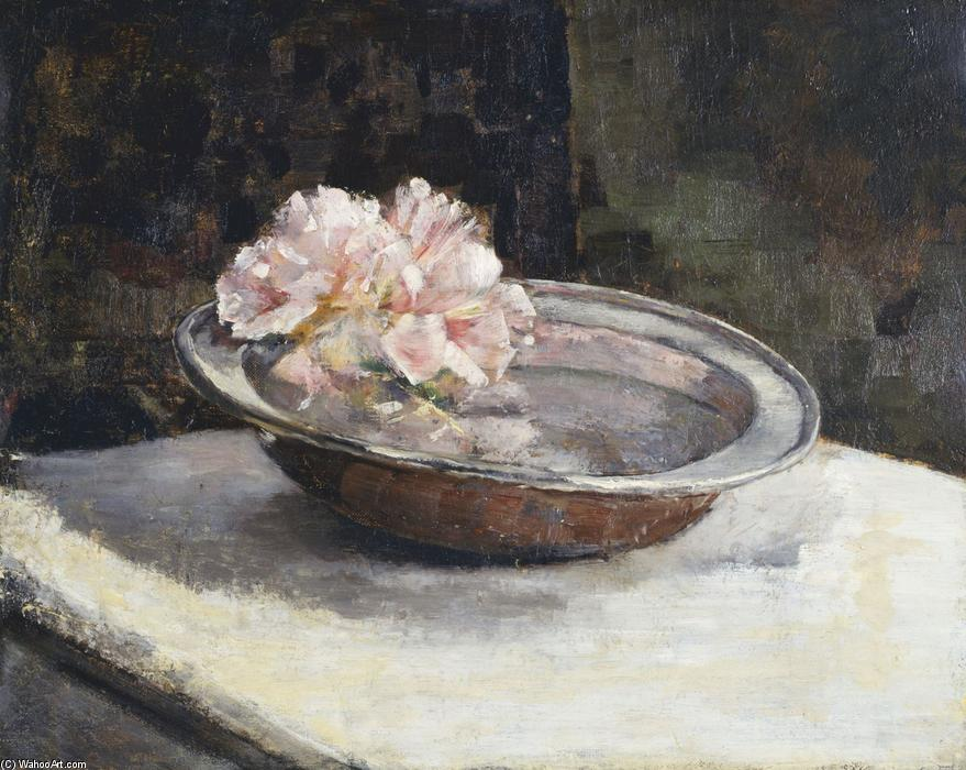Still Life with Rhododendron, 1886 by Abbott Handerson Thayer (1849-1921, United States)