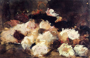 George Hendrik Breitner - A Still Life With Roses