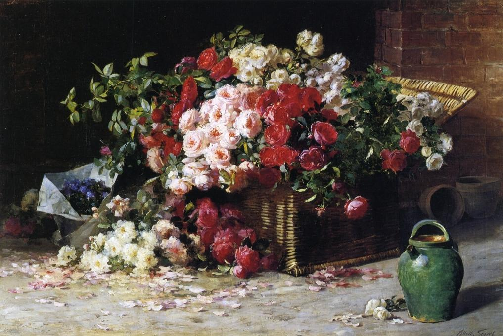 Still Life with Roses, 1890 by Abbott Fuller Graves (1859-1936, United States) | Museum Quality Reproductions | WahooArt.com