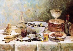 Jean Edouard Vuillard - Still Life with Salad Bowl
