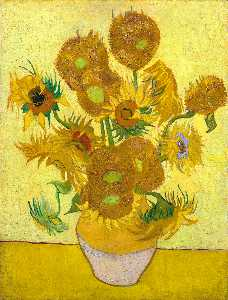 Vincent Van Gogh - Still Life with Sunflowers