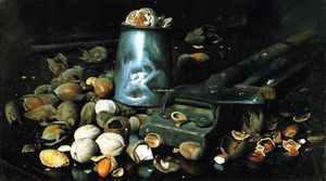 Joseph Decker - Still LIfe with Tin Can and Nuts